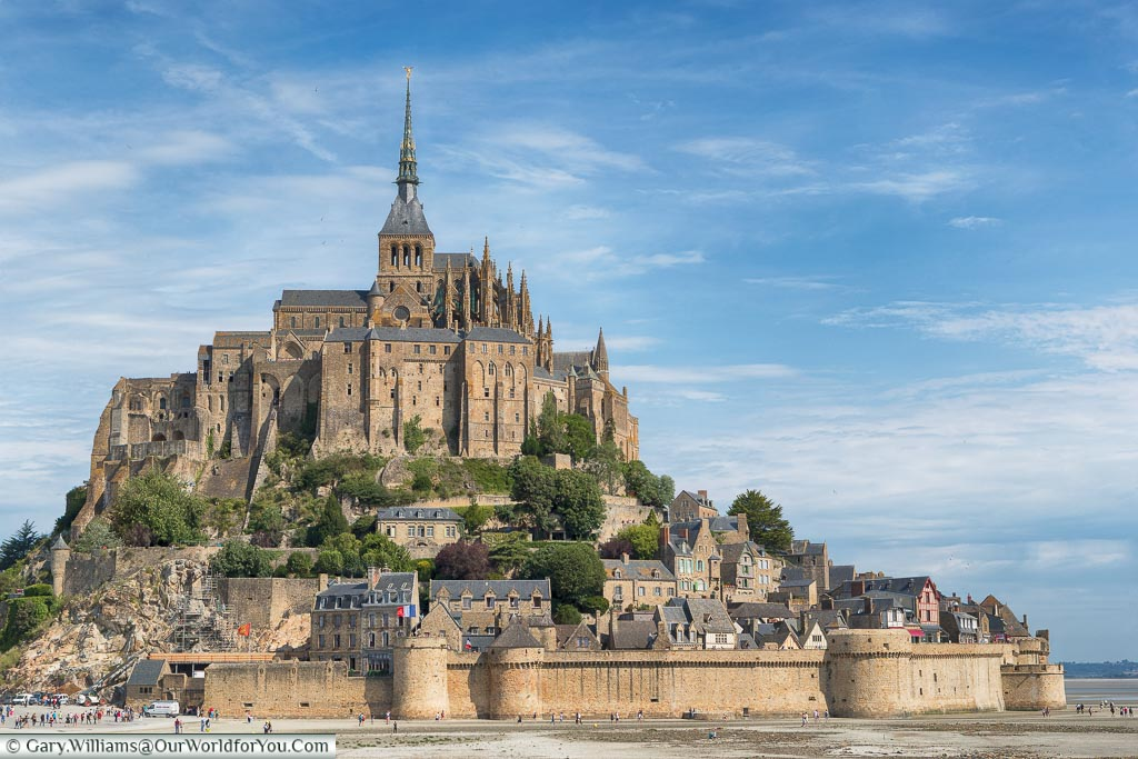 The view of Mont-Saint-Michel, Normandy, France