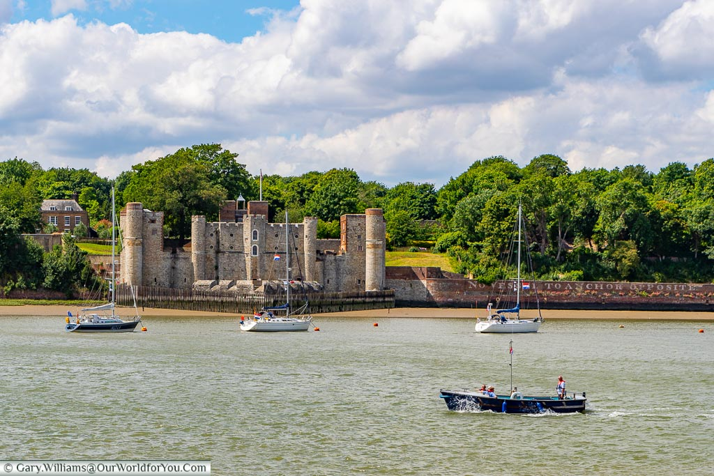 Upnor Castle from the river, Upnor, Kent, England, UK