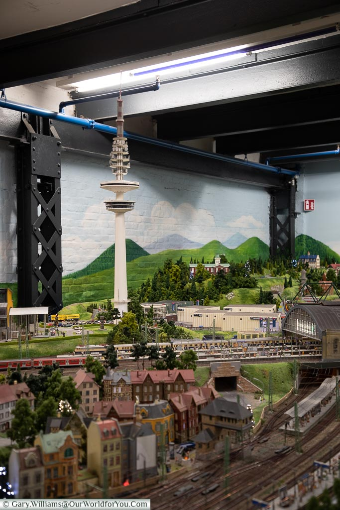 Checkout the trees in th foreground, Miniatur Wunderland, Hamburg, Germany