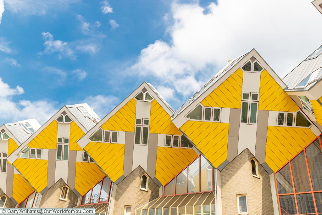 Cube houses against Blue skies, Rotterdam, Netherlands