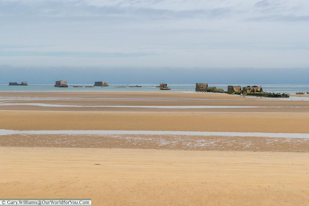 Port Winston around Gold Beach, Normandy, France