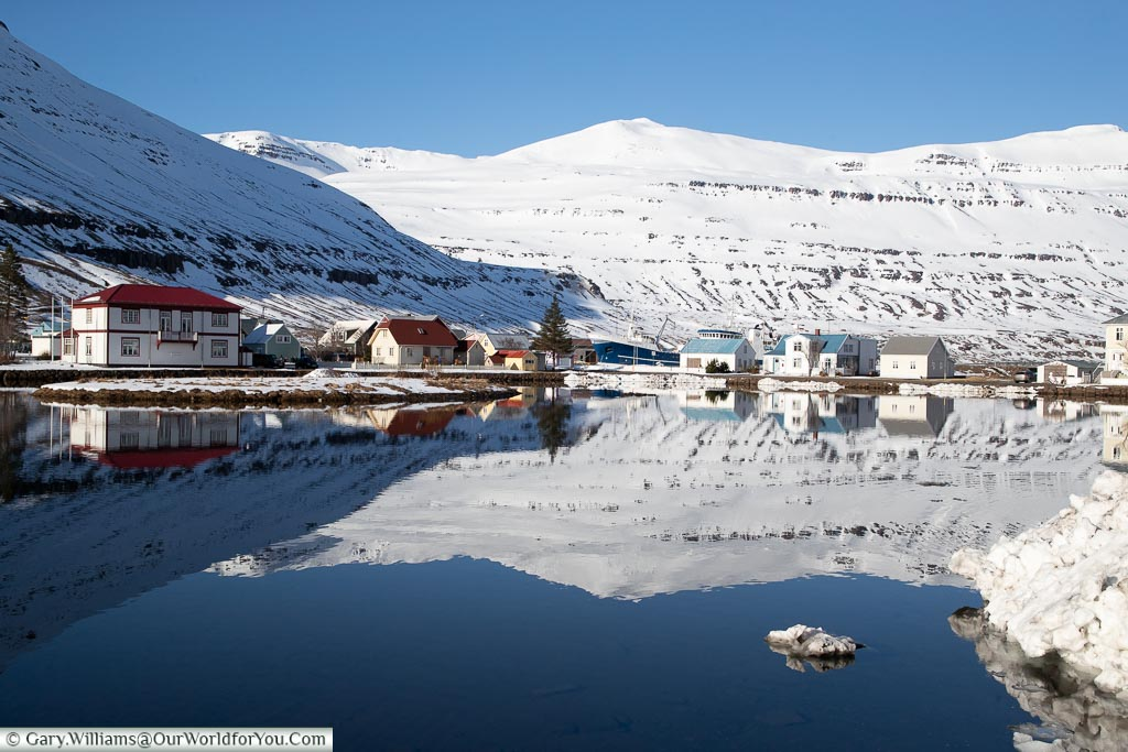 The beautiful Seydisfjordur in the east, Iceland
