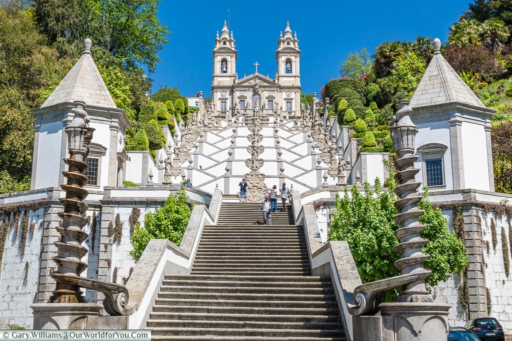 The view from the bottom, Bom Jesus do Monte, Portugal