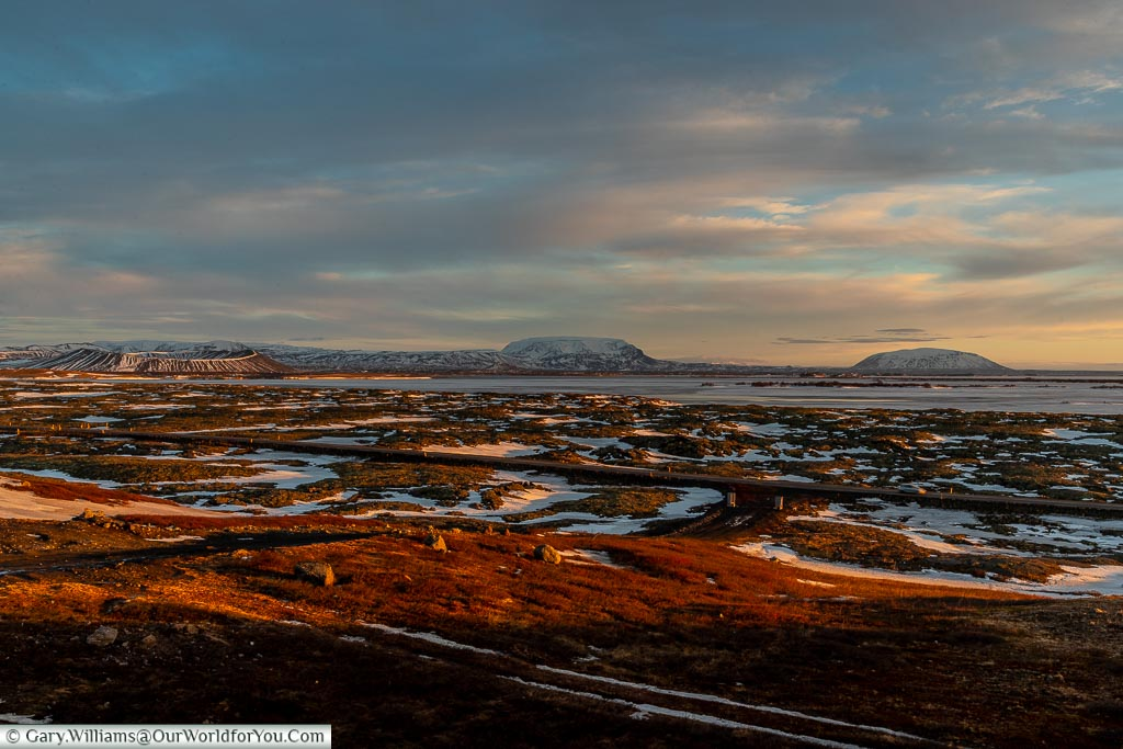 The view over Mývatn, Driving in Iceland