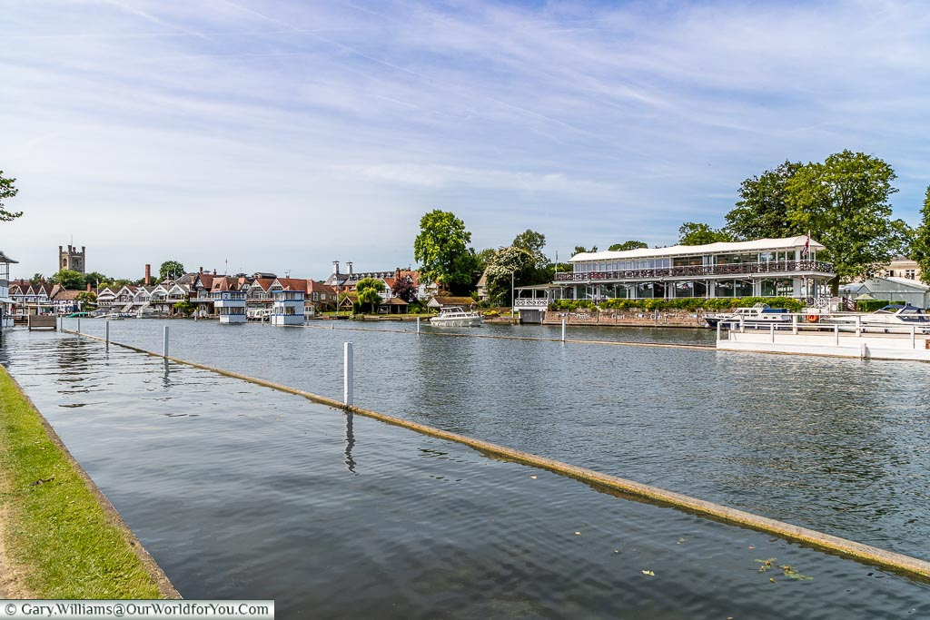 All ready for rowing, Henley-on-Thames, England