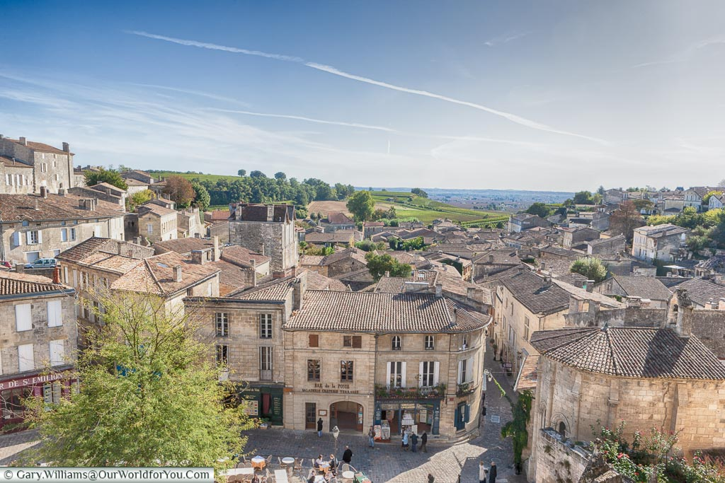 Looking over St-Emillion, France