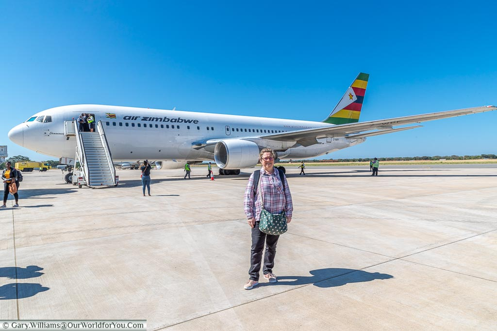 Our Air Zimbabwe flight to Victoria Falls Airport, Victoria Falls Town, Zimbabwe