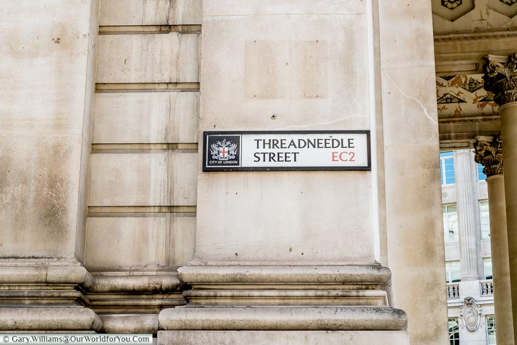 Threadneedle Street, Streets of London, London, England, UK