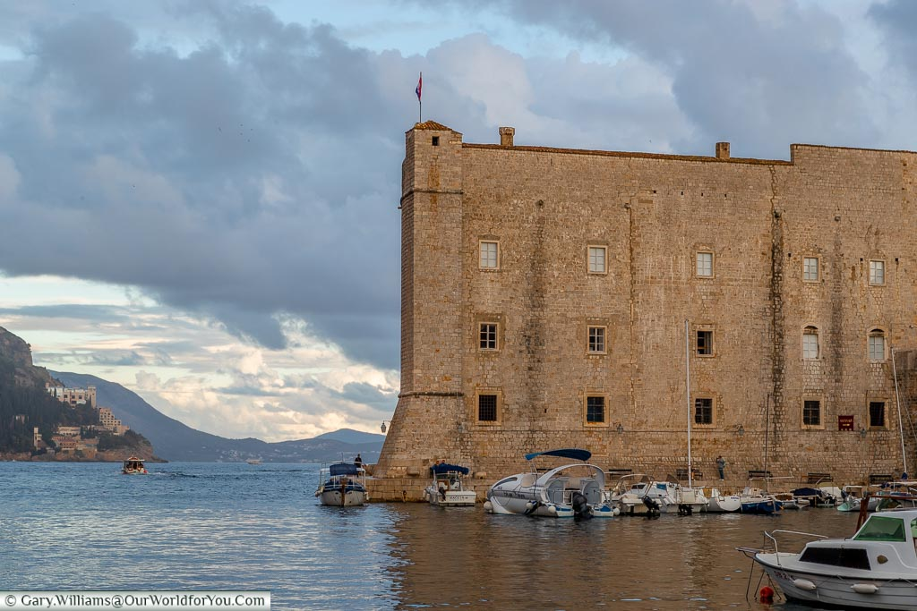 View from the old port of Dubrovnik, Croatia