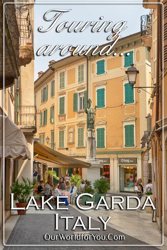 A Pin image for our post - 'Touring around Lake Garda, Italy, by car'