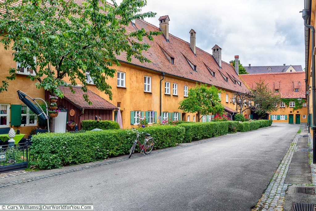 A street view of the Fuggerei.