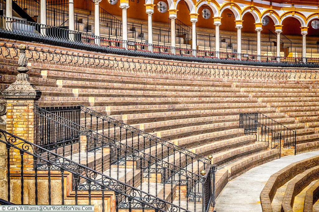 The tiered seating inside the bullring, or Plaza de Toros as it's known in Spanish.  The styling is traditional but not sure if we could watch a 'show'