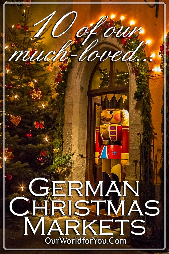 The Pin image for our post - '10 of our much-loved German Christmas Markets'