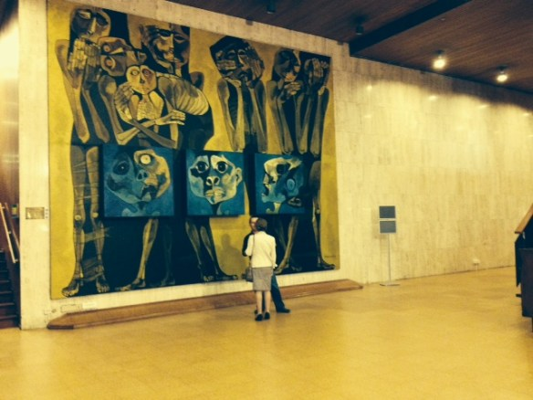 UNESCO inside building art