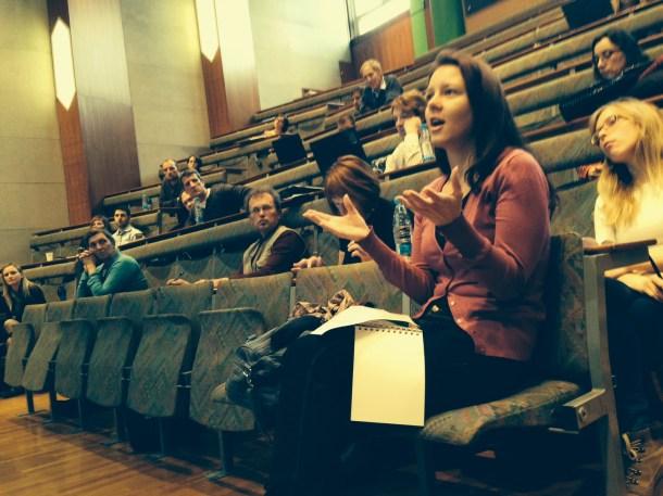 STA journalist Sonja Poznic Cvetko @ UNESCO Chair OER press conference