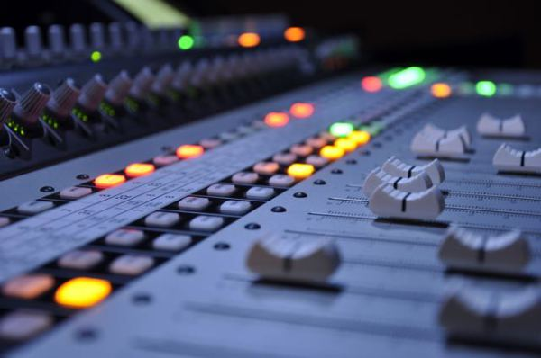 mixing desk faders