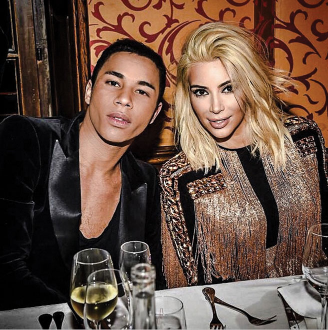 I'm very attracted to that look of no makeup. Olivier Rousteing