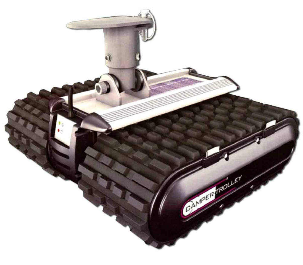 hight resolution of the unit fits a pre installed fixing on the caravan s a frame this mover has a lithium ion battery