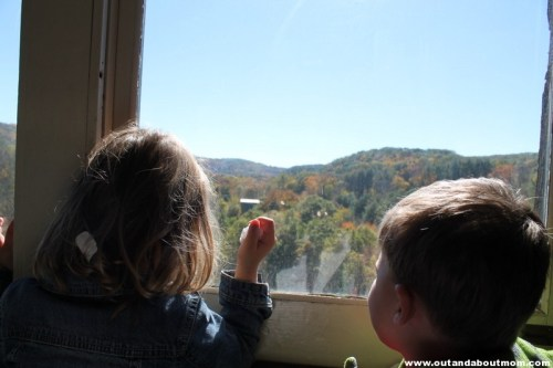 Spectacular views aboard the Naugatuck Railroad in Thomaston, CT