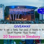 GIVEAWAY: Family Four-Pack of Tickets to 20 Seasons in Simsbury at Talcott Mountain Music Festival