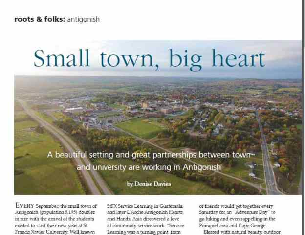 Antigonish Small Town Big Heart