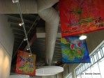 Hanging fabric art