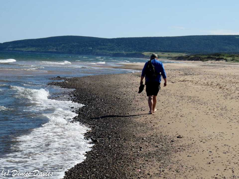 Walking on the beach, Inverness