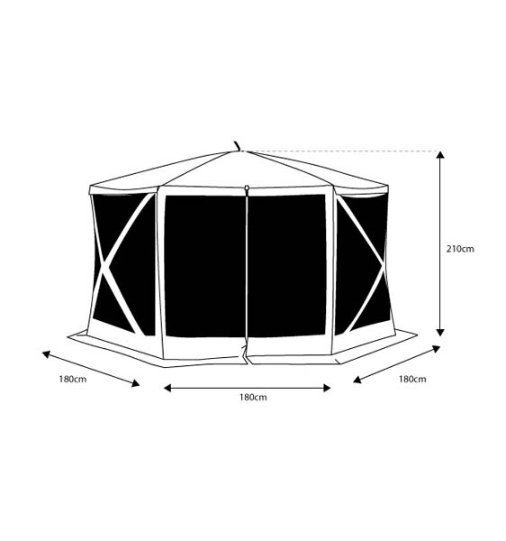 Oztent Screen House Hex Walls