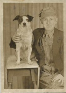 No name for this man and his best friend but who needs a name the picture says it all.