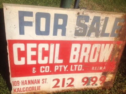 Old Cecil Brown For Sale Sign sent in by Peter Green