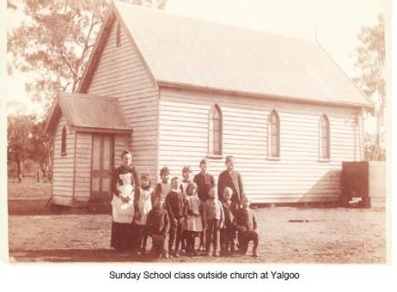 Sunday School outside of Church Yalgoo