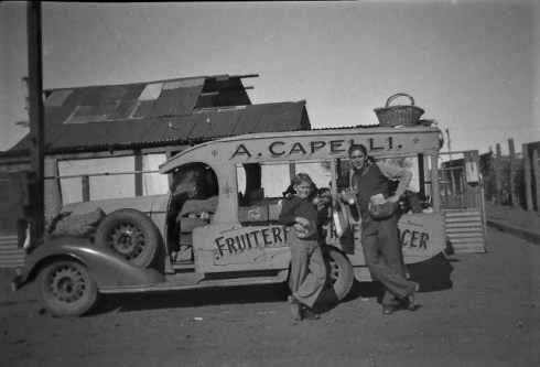 The Green Grocer –Capellis, 1949 outside 42 Austral Rd. Kalgoorlie.