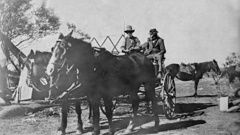 Arthur Ashwin and Bill Thompson on Wonganoo Station heading off to Thompson's Well