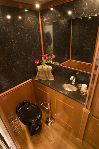 Luxurious Mobile Restroom Trailer Rental for Long Island