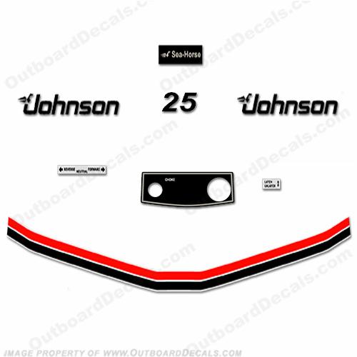 Johnson 1983 25hp Electric Start Decals