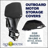 Oceansouth Custom Fit Storage Covers for Suzuki In-Line 4 DF70A, DF80A, DF90A