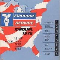 1976 EVINRUDE OUTBOARD MOTOR 15 HP SERVICE MANUAL NICE