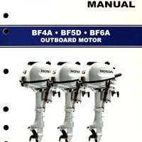Honda BF4 BF5 BF6 Marine Outboard Service Repair Shop Manual