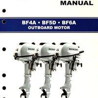 Honda BF4 BF5 BF6 Marine Outboard Service Repair Shop Manual