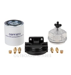 details about marine boat water separator fuel filter bowl head kit yamaha mercury outboard [ 1600 x 1600 Pixel ]
