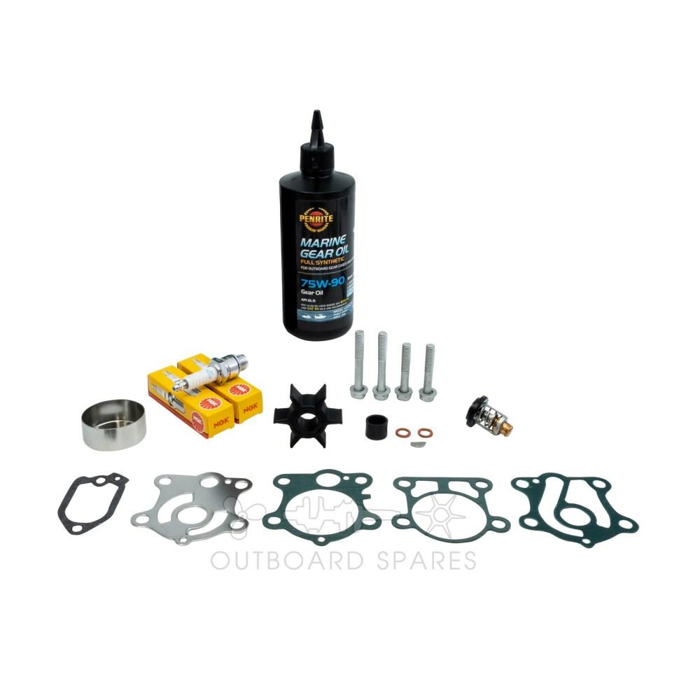 medium resolution of yamaha 40 50hp 2 stroke service kit with oils ossk11o