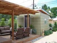 10x12 Backyard Office With Trelis - Westcoast Outbuildings