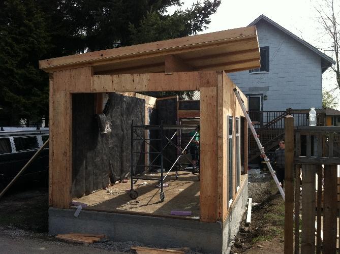 Prefab Garage Kit Coastal Modern Shed