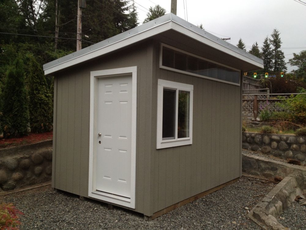 8 x 12 North Vancouver Contemporary Garden Shed