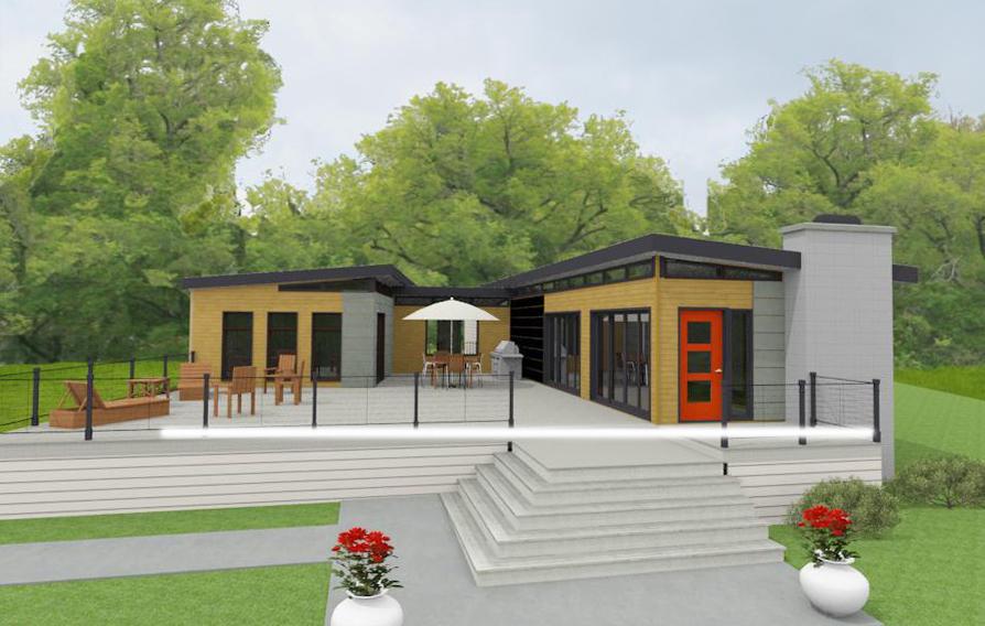 Prefab dwelling kit prefab house kit prefab garage kit - What does 500 square feet look like ...