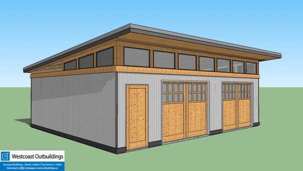 Canadian outbuilding shed cabin prefab laneway library for Modular garage california