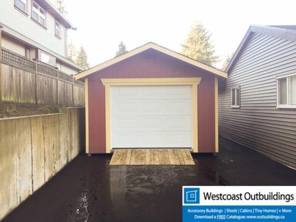 12 x 20 modular garage westcoast outbuildings for Modular garage california