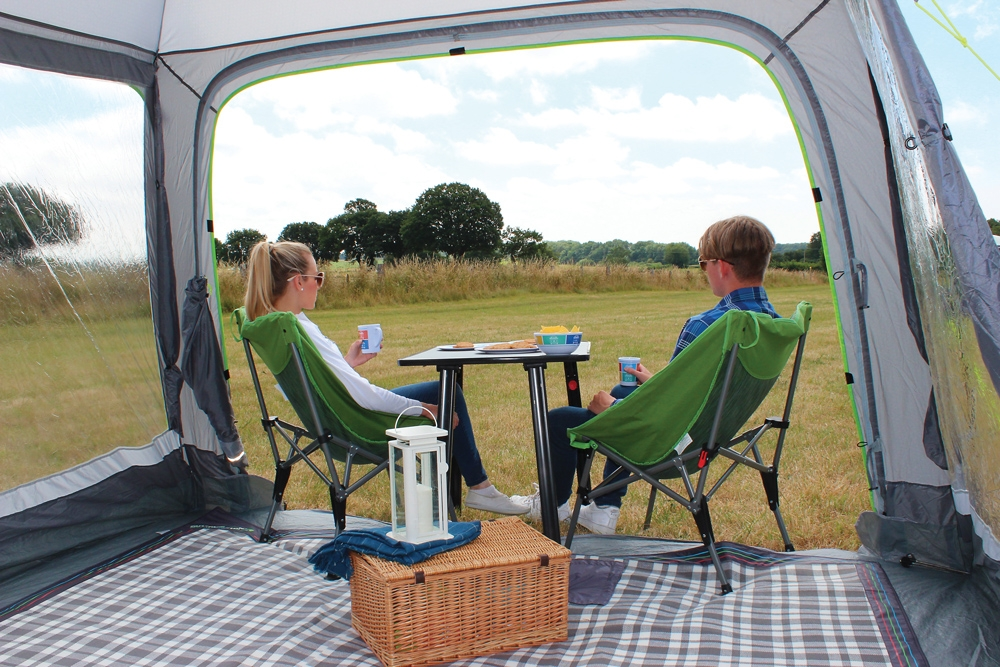 outdoor revolution posture xl chair bulk order office chairs cayman budget 3m x square entry level driveaway motorhome awning redesigned for 2019 the ultra lightweight small family pole and sleeve takes inspiration from our best selling