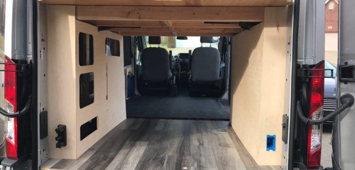 Van Conversion Vinyl Flooring Installation