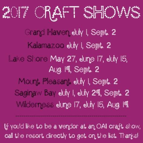 2017 craft shows rev
